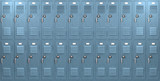 Blue School Lockers Front