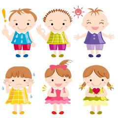 子供たち 様々な表情