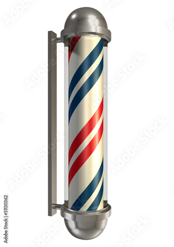 Barbers Poll Isolated