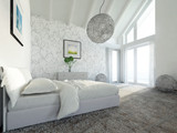 modern master bed room penthouse poster