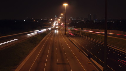 401 Highway timelapse. Zoom out. Toronto, Ontario.