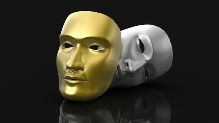 Theater masks animation