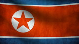 North Korea flag.