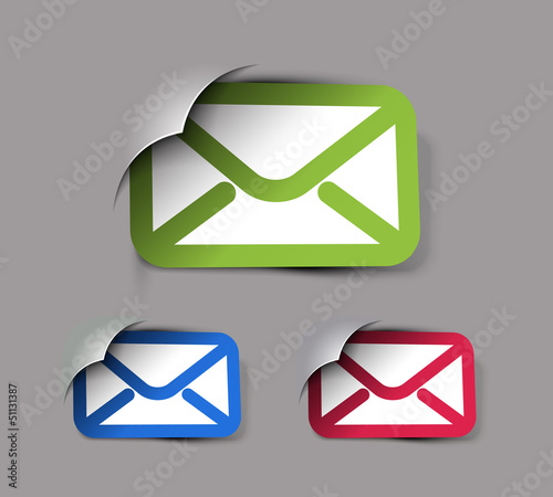 vector email icon web design element.