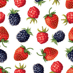 Berry seamless pattern