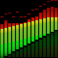 Vector illustration of a digital equalizer