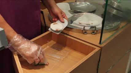 Vendor Making Kueh Tutu Dessert in Singapore 1080p
