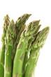 punte di asparagi in fondo bianco