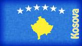 Linen flag of Kosovo poster