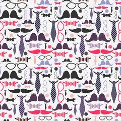Gentleman fashion accessories seamless pattern