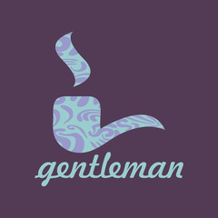 Gentleman's card with pipe male fashion