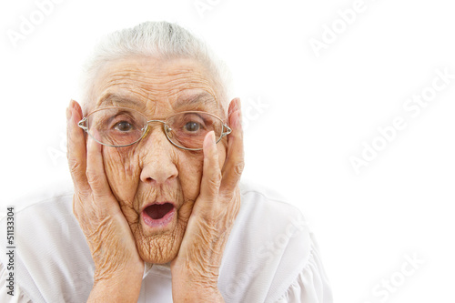 grandma with open mouth