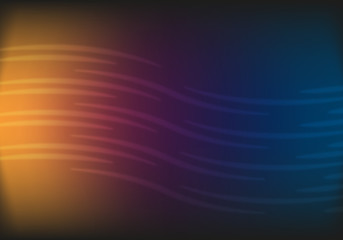 Abstract dark background with bright waves