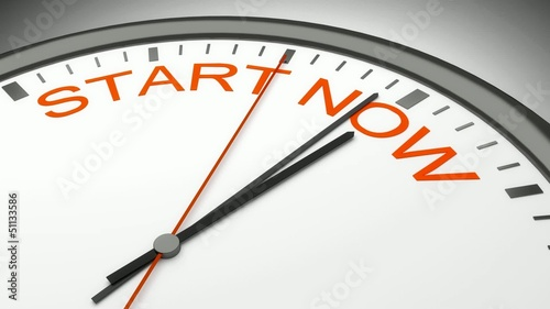 Start Now time animation