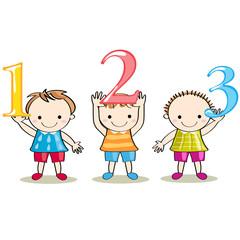 数字を持つ子供