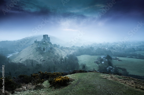 Corfe Castle and Village Dorset