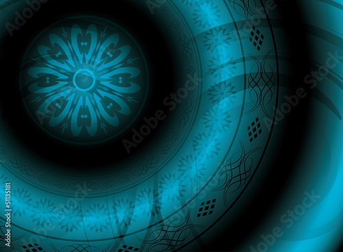 abstract vector background with round ornament - eps 10