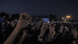 a crowd of fans at a concert, festival, people