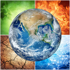 composition of the four natural elements and Earth