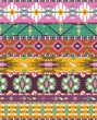Seamless colorful aztec geometric pattern with birds and arrows