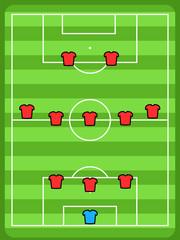 Football field formation - 3-5-2