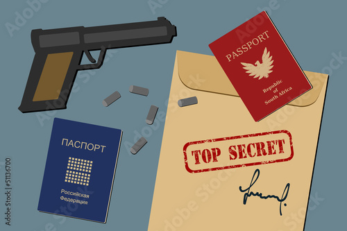Top secret - espionage and military operation concept
