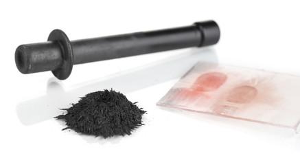 Brush for fingerprints isolated on white