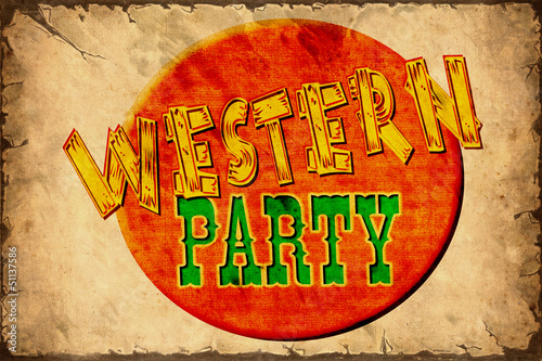 Retroplakat - Western Party