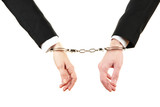 Man and woman hands and breaking handcuffs isolated
