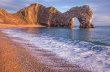 Durdle Dor a rock arch off the Jurassic Coast Dorset England