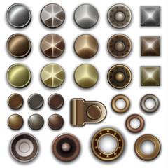 Metal accessories collection - vector eps10