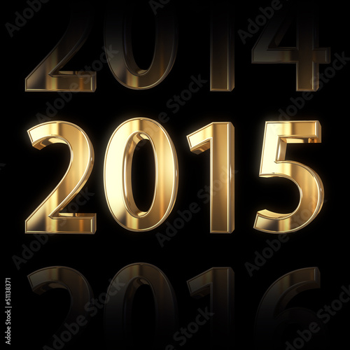 shining golden new year background