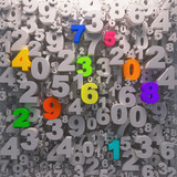 Colorfull numbers preschool background