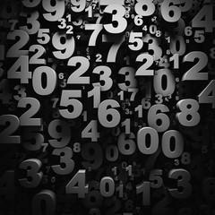 3D numbers wallpaper