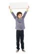 Portrait Of Boy Holding Placard
