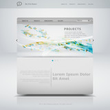 Fototapety Website template in editable vector format