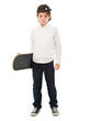 Portrait Of A Boy Holding Skateboard