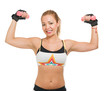 Mid-adult Woman Lifting Dumbbell