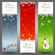 Three Christmas long cards