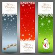 Three Christmas long cards