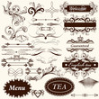Calligraphic retro design elements and page decorations