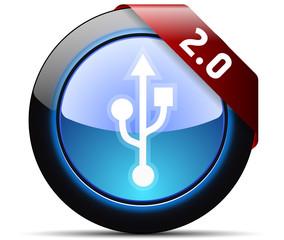 USB 2.0 connection button