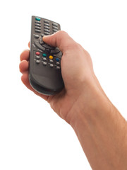 Human Hand Using Remote Control