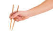 Close-up Of Hand Holding Chopsticks