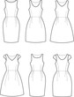 Vector illustration of romantic summer dresses