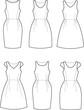 Vector illustration of romantic summer dresses