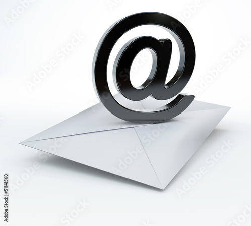 Envelope with email symbol - email concept