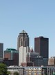 Downtown Des Moines Iowa Skyline