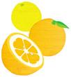 水彩風のオレンジ