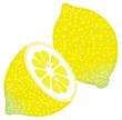 水彩風のレモン